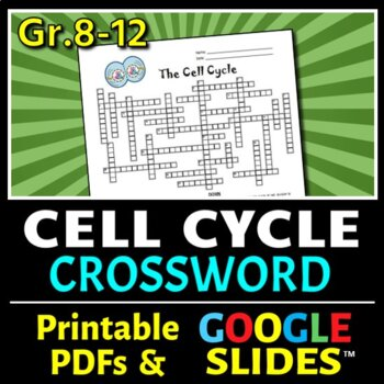 The Cell Cycle Crossword {Editable}