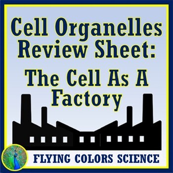 Plant and Animal Cells Factory Worksheet - Organelles NGSS MS-LS1-1 MS-LS1-2