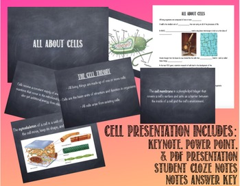 The Cell: Presentation and Notes