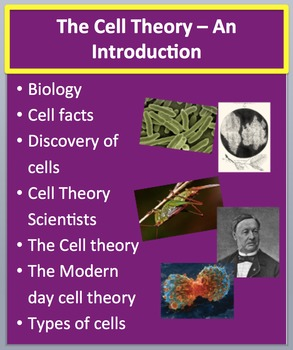 The Cell Theory - An Introduction - PowerPoint Lesson and Student Notes Package