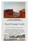 The Cellist of Sarajevo Word Prompt Cards