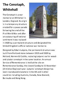 The Cenotaph, Whitehall Handout