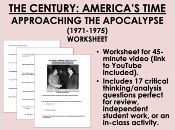 The Century:America's Time Approaching the Apocalypse(1971-1975) video worksheet