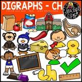 Digraph~CH Clip Art Bundle {Educlips Clipart}