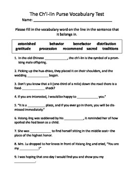 The Ch'i-lin Purse Vocabulary Test and Vocabulary Dominoes