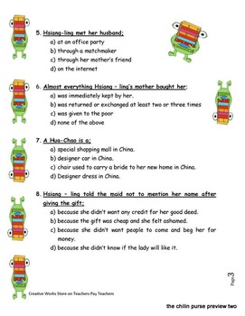 The Ch'-i-lin Purse by Linda Fang ( Reading Comprehension Quiz)