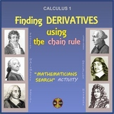 """Calculus Derivatives - Chain Rule - """"Mathematicians Search"""" Activity (solutions)"""