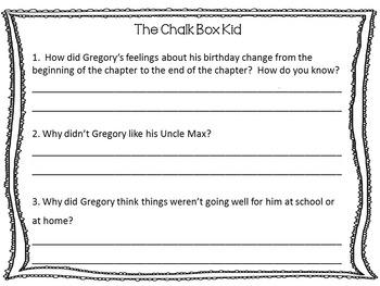The Chalk Box Kid ~ 45 pgs. Common Core Activities