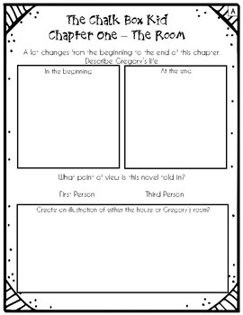 The Chalk Box Kid - DIFFERENTIATED Novel Study Sheets!