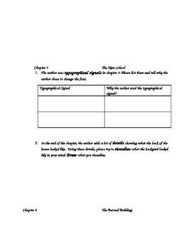 The Chalk Box Kid Novel Study/Comprehension Questions