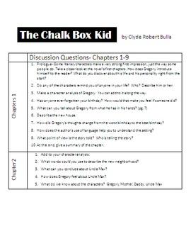 The Chalk Box Kid - Novel Unit