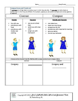 The Chalk Box Kid Literature and Grammar Unit