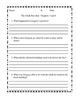 The Chalk Box Kid Questions by Chapter