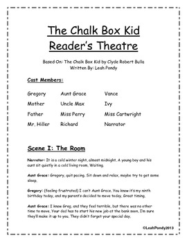The Chalk Box Kid Reader's Theater