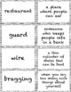 The Chalk Box Kid Vocabulary Cards for Ch. 3 & 4