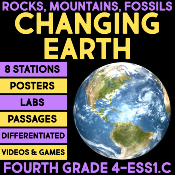 the changing earth history of planet earth fourth grade science stations. Black Bedroom Furniture Sets. Home Design Ideas
