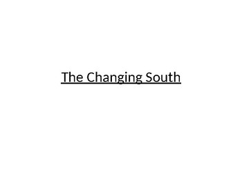 The Changing South