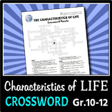 The Characteristics of Life - Crossword {Editable}