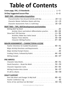Characterization Master Course Grades 9-12