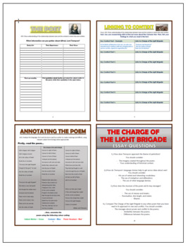 The Charge of the Light Brigade Comprehension Activities Booklet!