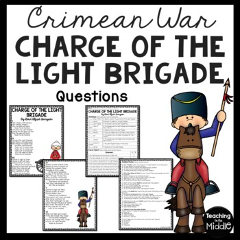 The Charge of the Light Brigade Poem & Questions; Tennyson