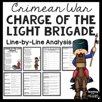 The Charge of the Light Brigade Poem- Reading Guide Questions, Tennyson
