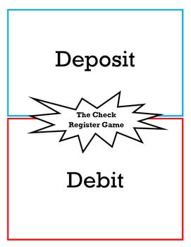 check register game writing checks deposits and balancing accounts