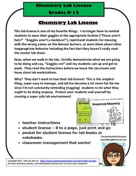 The Chemistry Lab License - How a Piece of Paper Can Chang