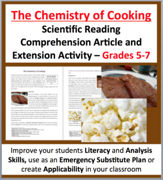 The Chemistry of Cooking - Science Reading Article - Grades 5-7