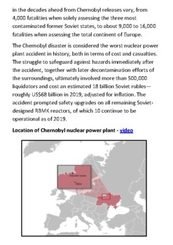 The Chernobyl disaster Handout