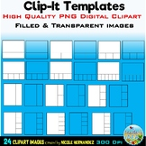 Clip Card Template Clipart for Personal and Commercial Use