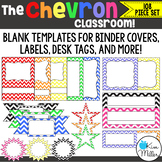Classroom Decor - Chevron Frames, Borders & Labels - 108 Piece Set