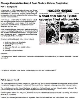 The Chicago Cyanide Murders (Answer Key) by Biologycorner ...