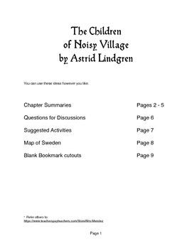 The Children of Noisy Village Lesson Plan