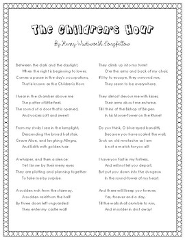 The Children's Hour Poem by Henry Wadsworth Longfellow