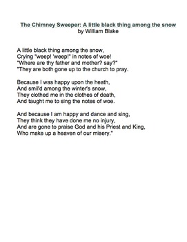 The Chimney Sweeper by William Blake - Lesson, Analysis, & Writing