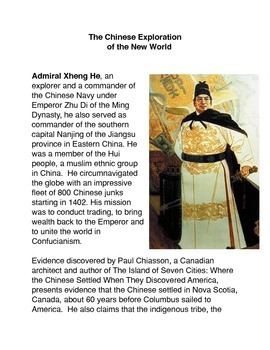 The Chinese Exploration of the New World