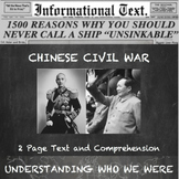 The Chinese Revolution--Informational Text Worksheet
