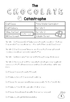 The Chocolate Catastrophe Reader's Theatre for Y2-4
