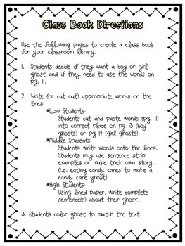 The Chocolate Chip Ghost: A Halloween Writing Activity