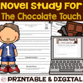 Chocolate Touch Novel Study - Print & Digital Distance Learning