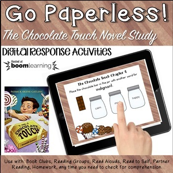 Google Classroom™ The Chocolate Touch 3rd Grade Novel Study sample