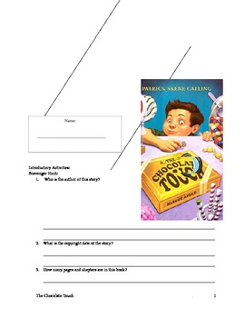 The Chocolate Touch Activity-Comprehesion Packet