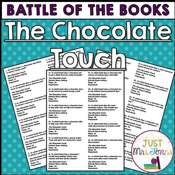 The Chocolate Touch Battle of the Books Trivia Questions
