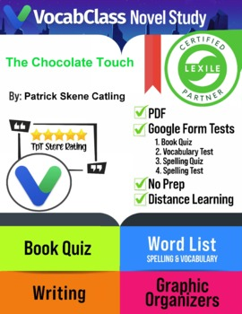 The Chocolate Touch Book Novel Study Guide PDF | READING QUIZ | VOCAB |  GAMES +