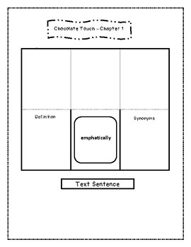 The Chocolate Touch Close Read Interactive Notebook and Novel Study