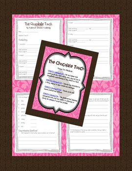 The Chocolate Touch: Comprehension, Vocabulary, Writing