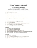 The Chocolate Touch - Guided Reading Work Packet