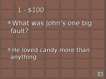 The Chocolate Touch Jeopardy Game