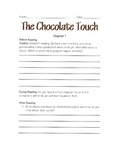 The Chocolate Touch Novel Study- All Chapters 1-10